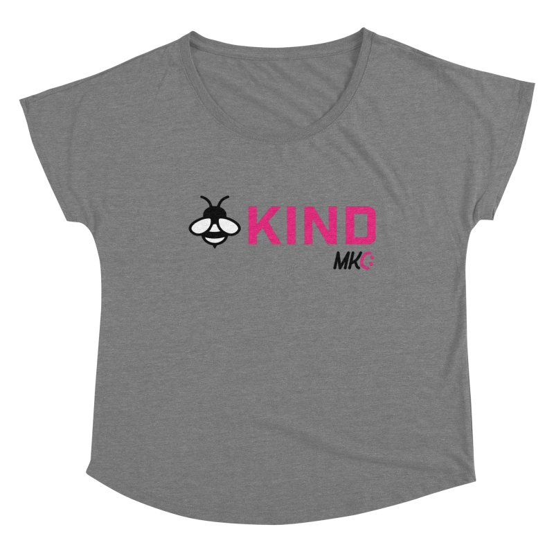 Bee Kind Women's Scoop Neck by MakeKindnessContagious's Artist Shop
