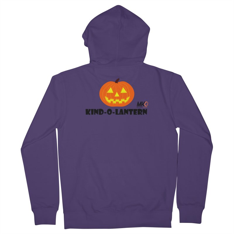 Kind-o-Lantern Women's French Terry Zip-Up Hoody by MakeKindnessContagious's Artist Shop