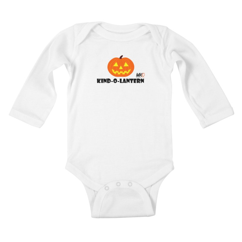 Kind-o-Lantern Kids Baby Longsleeve Bodysuit by MakeKindnessContagious's Artist Shop
