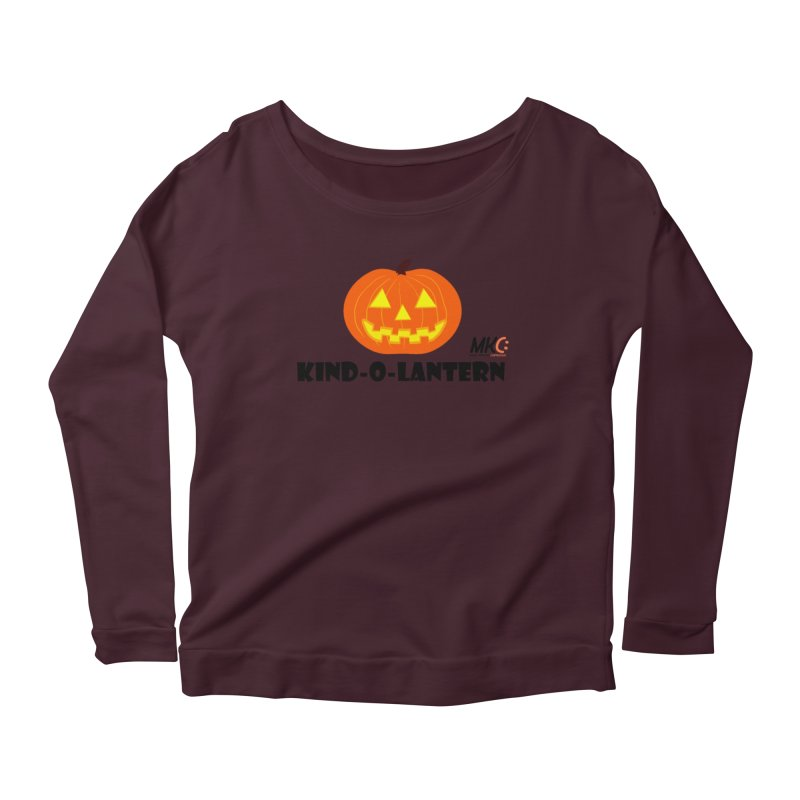 Kind-o-Lantern Women's Scoop Neck Longsleeve T-Shirt by MakeKindnessContagious's Artist Shop