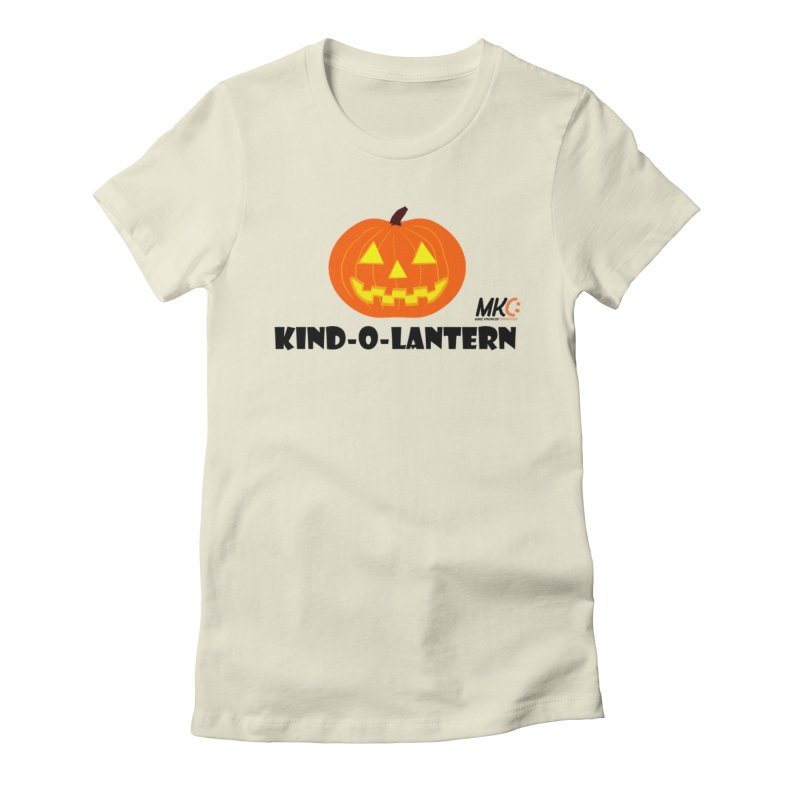 Kind-o-Lantern Women's Fitted T-Shirt by MakeKindnessContagious's Artist Shop