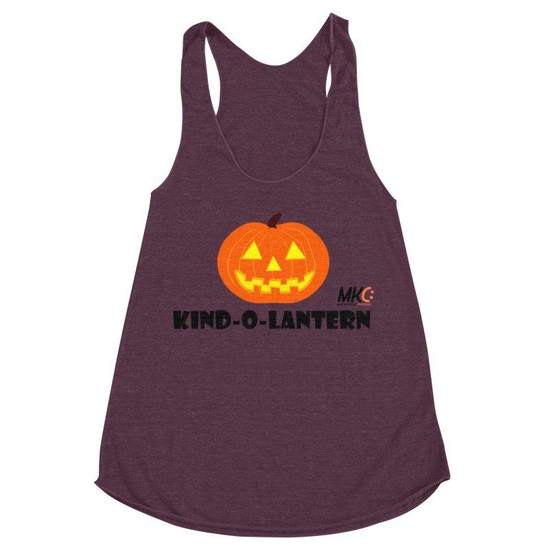 Kind-o-Lantern Women's Racerback Triblend Tank by MakeKindnessContagious's Artist Shop