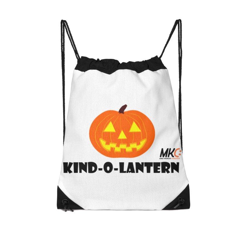 Kind-o-Lantern Accessories Drawstring Bag Bag by MakeKindnessContagious's Artist Shop