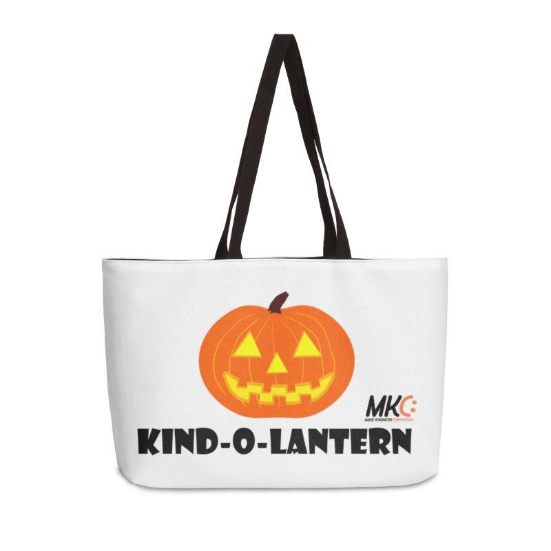 Kind-o-Lantern Accessories Weekender Bag Bag by MakeKindnessContagious's Artist Shop