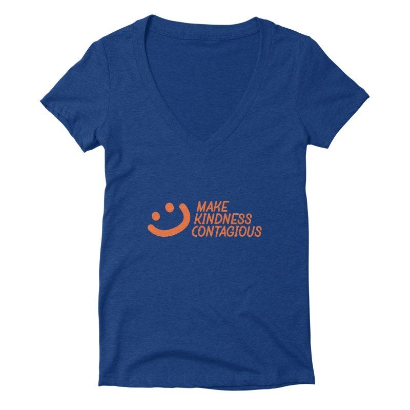 Smile! Women's Deep V-Neck V-Neck by MakeKindnessContagious's Artist Shop