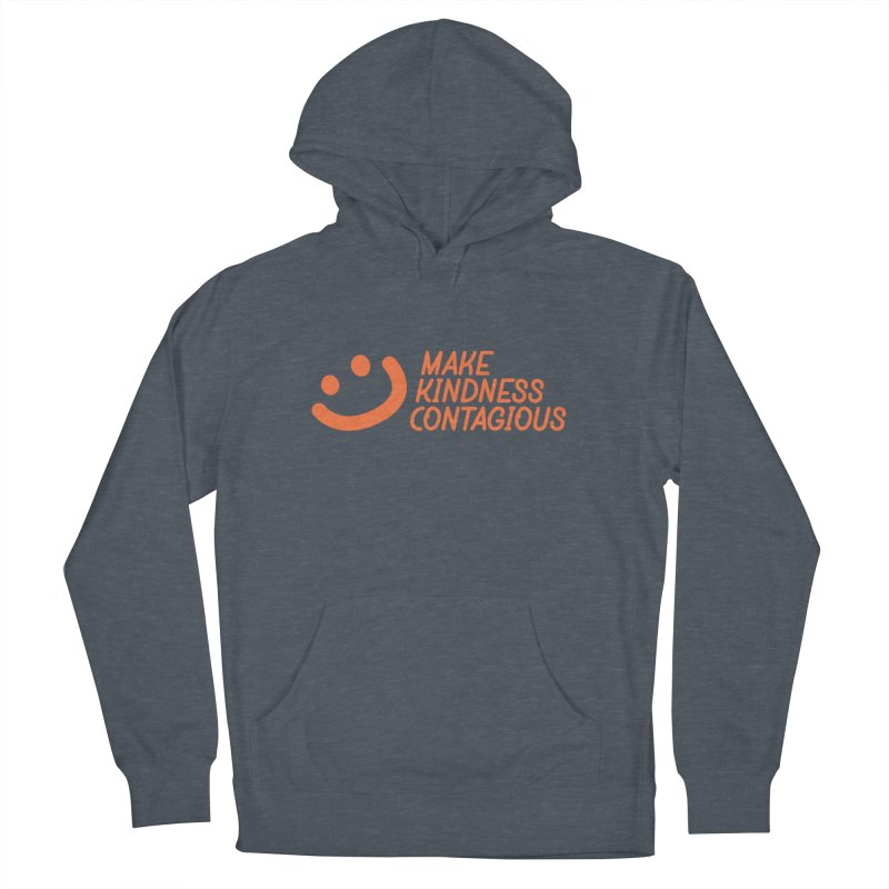 Smile! in Women's French Terry Pullover Hoody Heather Navy Denim by MakeKindnessContagious's Artist Shop