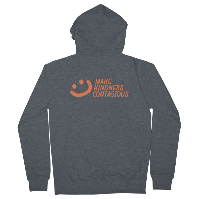 Smile! Men's French Terry Zip-Up Hoody by MakeKindnessContagious's Artist Shop