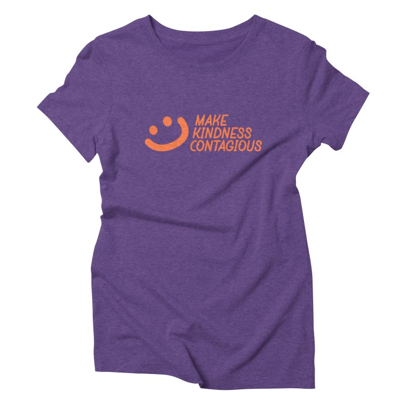 Smile! Women's Triblend T-Shirt by MakeKindnessContagious's Artist Shop