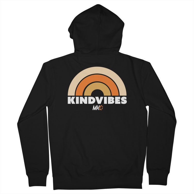 Kind Vibes Women's French Terry Zip-Up Hoody by MakeKindnessContagious's Artist Shop