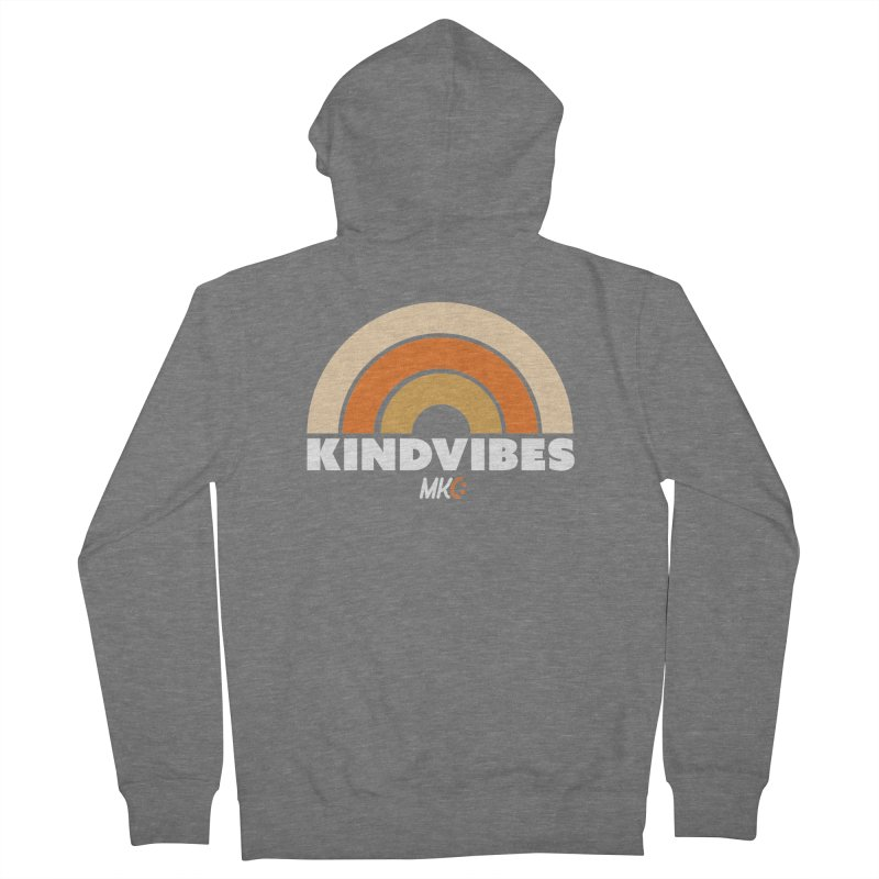 Kind Vibes Men's French Terry Zip-Up Hoody by MakeKindnessContagious's Artist Shop