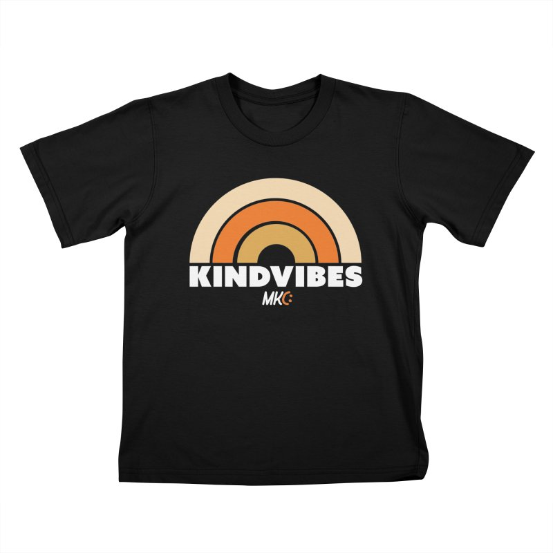 Kind Vibes in Kids T-Shirt Black by MakeKindnessContagious's Artist Shop