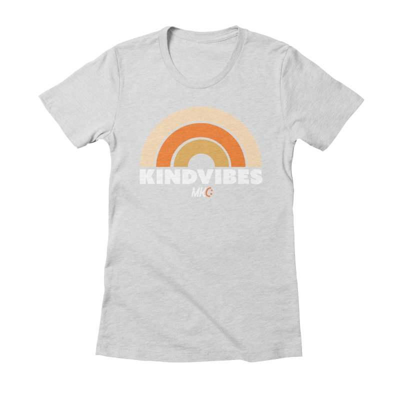 Kind Vibes in Women's Fitted T-Shirt Heather Grey by MakeKindnessContagious's Artist Shop