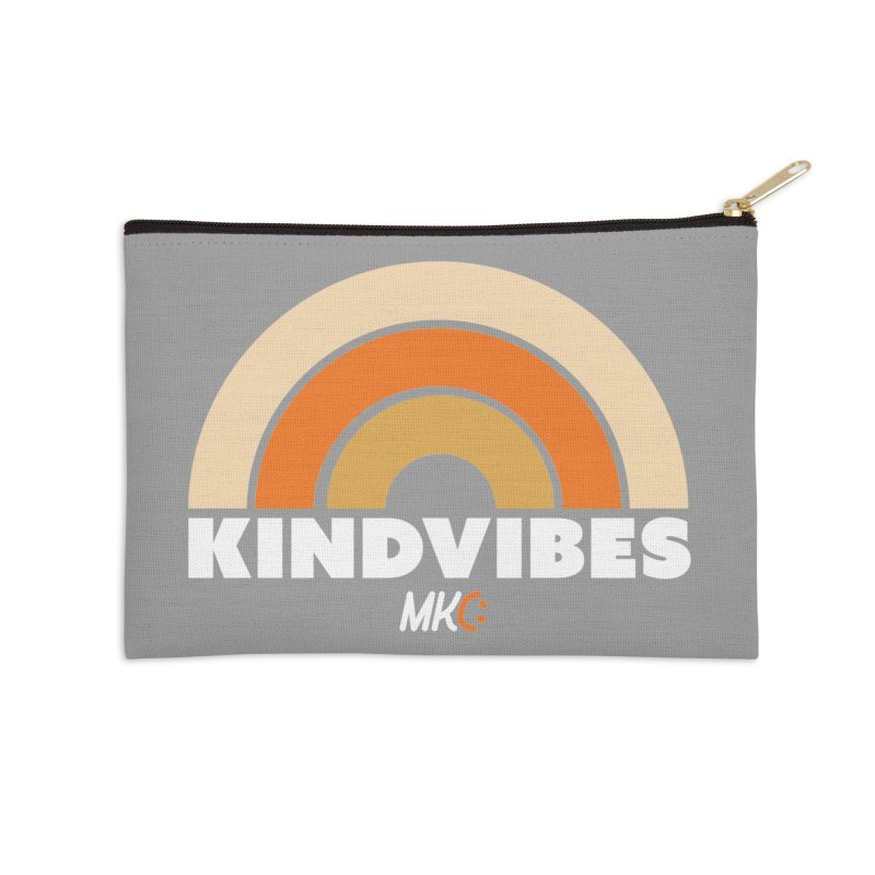 Kind Vibes Accessories Zip Pouch by MakeKindnessContagious's Artist Shop