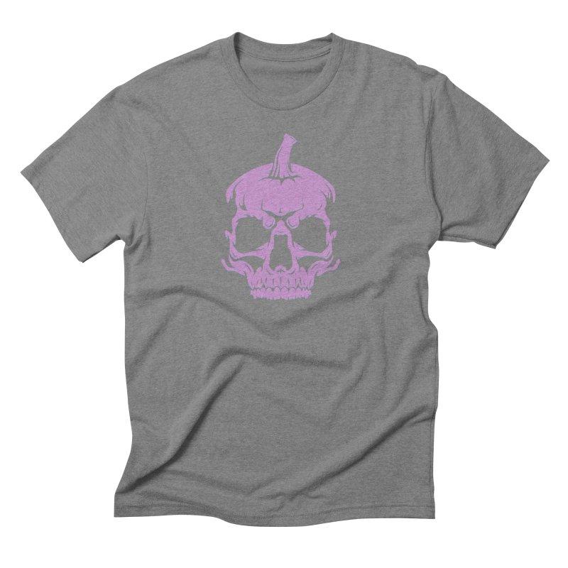 Lavender MPC Pumpkin Skull Logo Men's Triblend T-Shirt by Maniac Pumpkin Carvers Merch Shop