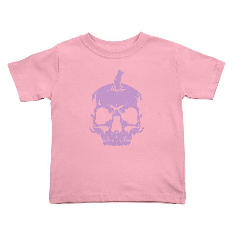 Lavender MPC Pumpkin Skull Logo Kids Toddler T-Shirt by Maniac Pumpkin Carvers Merch Shop