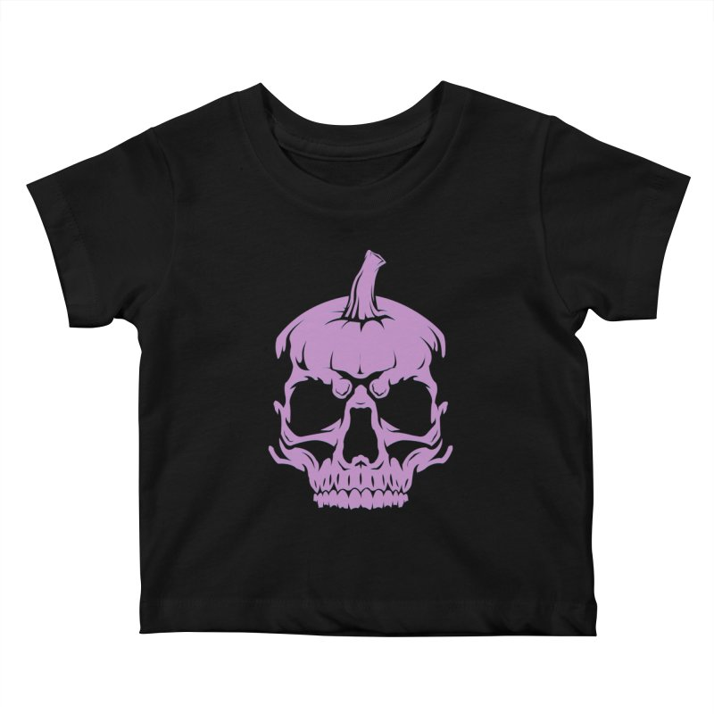 Lavender MPC Pumpkin Skull Logo Kids Baby T-Shirt by Maniac Pumpkin Carvers Merch Shop