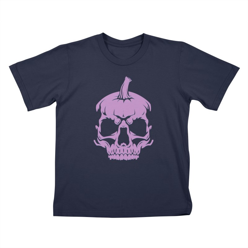 Lavender MPC Pumpkin Skull Logo Kids T-Shirt by Maniac Pumpkin Carvers Merch Shop