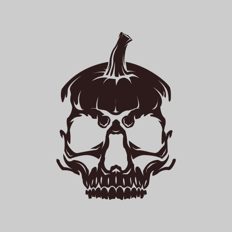 Black MPC Pumpkin Skull Logo Kids Longsleeve T-Shirt by Maniac Pumpkin Carvers Merch Shop