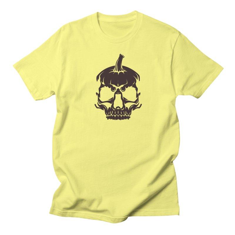 Black MPC Pumpkin Skull Logo Men's T-Shirt by Maniac Pumpkin Carvers Merch Shop