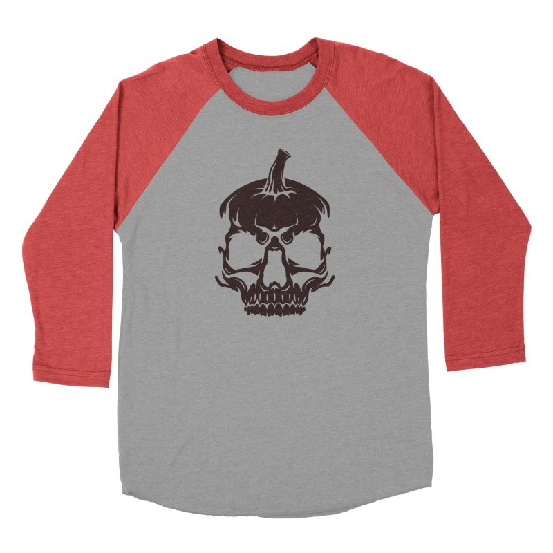 Black MPC Pumpkin Skull Logo Men's Longsleeve T-Shirt by Maniac Pumpkin Carvers Merch Shop