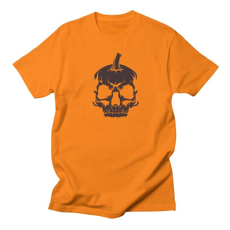 Black MPC Pumpkin Skull Logo Men's Regular T-Shirt by Maniac Pumpkin Carvers Merch Shop