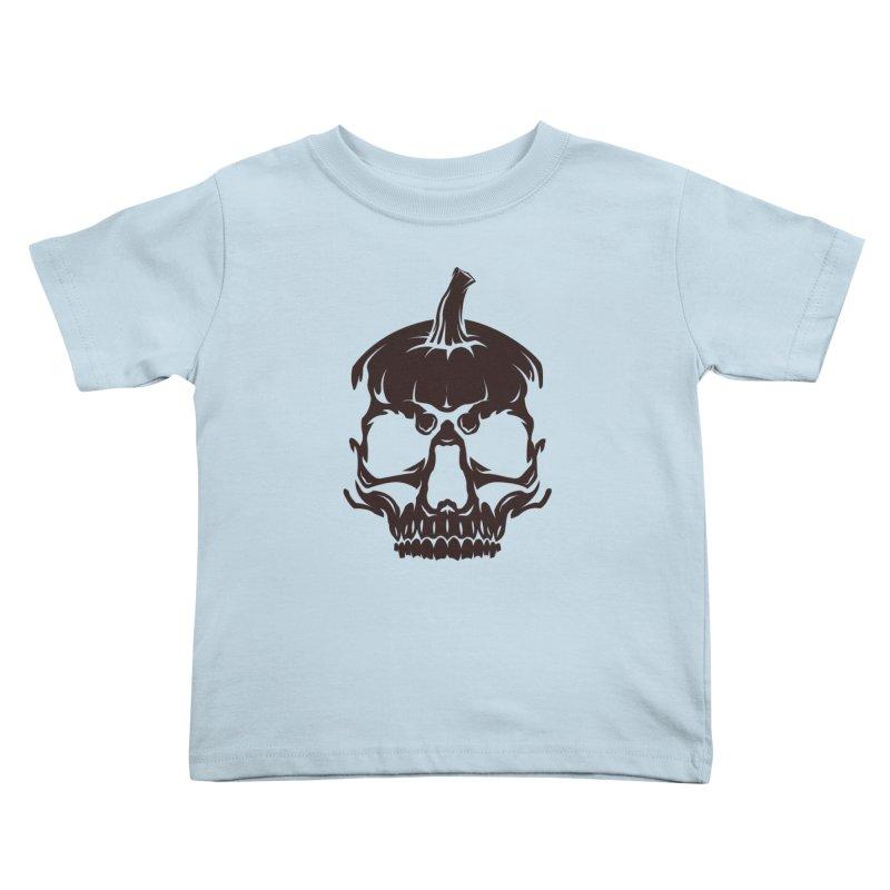 Black MPC Pumpkin Skull Logo Kids Toddler T-Shirt by Maniac Pumpkin Carvers Merch Shop