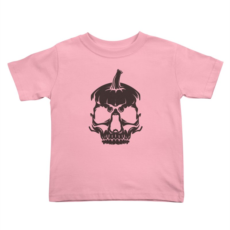Black MPC Pumpkin Skull Logo Kids Toddler T-Shirt by Maniac Pumpkin Carvers Merch Shop