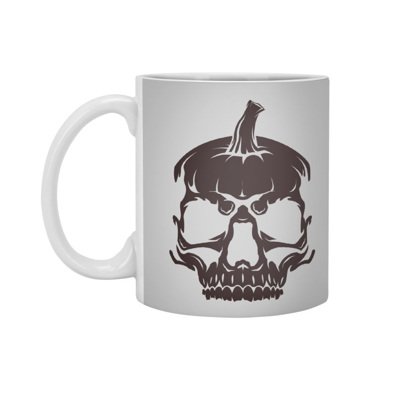 Black MPC Pumpkin Skull Logo Accessories Mug by Maniac Pumpkin Carvers Merch Shop