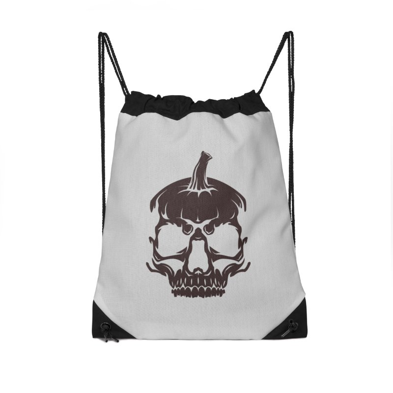 Black MPC Pumpkin Skull Logo Accessories Bag by Maniac Pumpkin Carvers Merch Shop