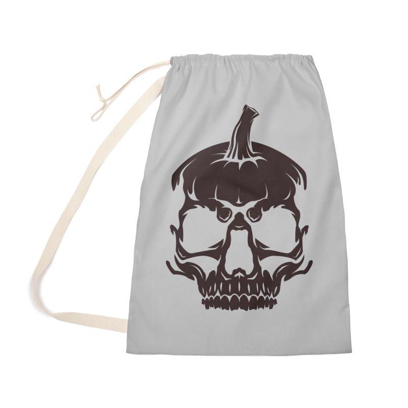 Black MPC Pumpkin Skull Logo Accessories Bag by Maniac Pumpkin Carvers Merch Shop