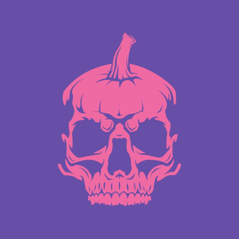 Pink Classic MPC Pumpkin Skull Logo Men's T-Shirt by Maniac Pumpkin Carvers Merch Shop