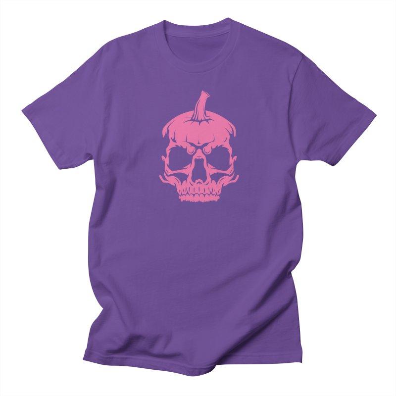 Pink Classic MPC Pumpkin Skull Logo Men's T-Shirt by Maniac Pumpkin Carvers Merch Shop