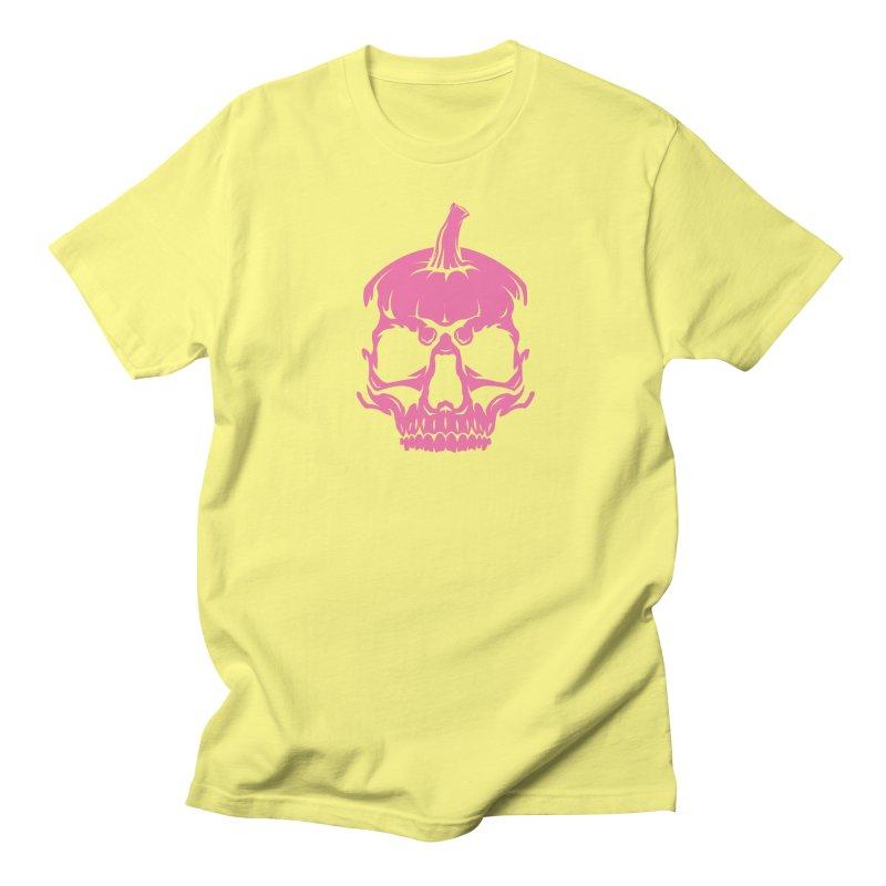 Pink Classic MPC Pumpkin Skull Logo Men's Regular T-Shirt by Maniac Pumpkin Carvers Merch Shop