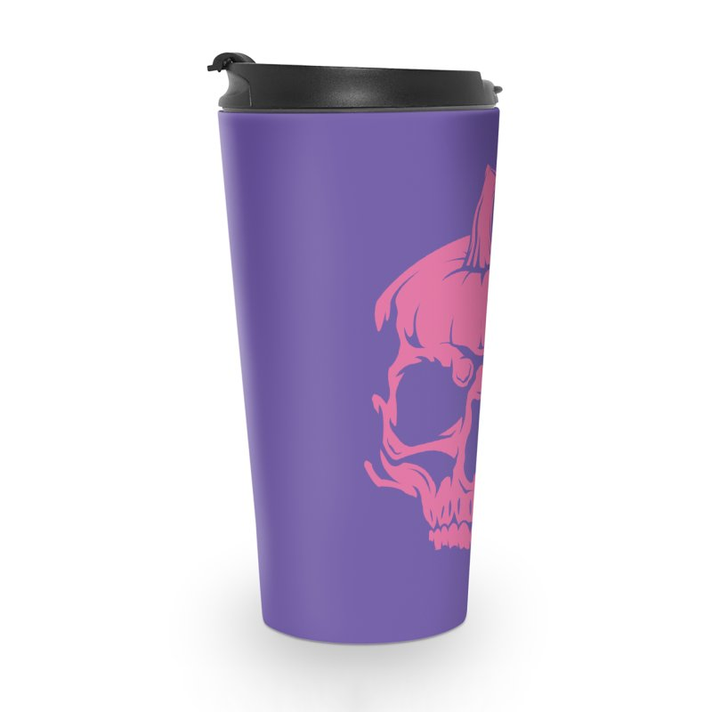 Pink Classic MPC Pumpkin Skull Logo Accessories Mug by Maniac Pumpkin Carvers Merch Shop