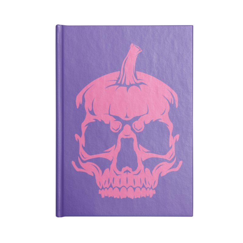 Pink Classic MPC Pumpkin Skull Logo Accessories Lined Journal Notebook by Maniac Pumpkin Carvers Merch Shop