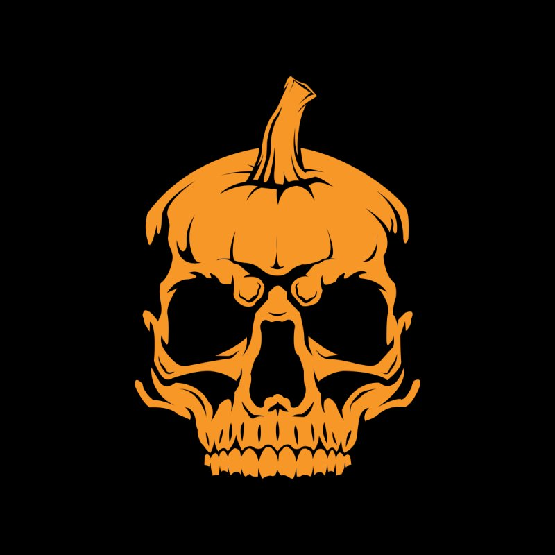 Classic Orange MPC Pumpkin Skull Logo Accessories Notebook by Maniac Pumpkin Carvers Merch Shop