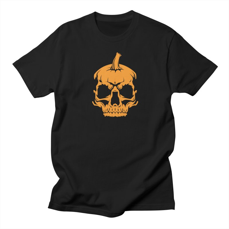 Classic Orange MPC Pumpkin Skull Logo Men's T-Shirt by Maniac Pumpkin Carvers Merch Shop