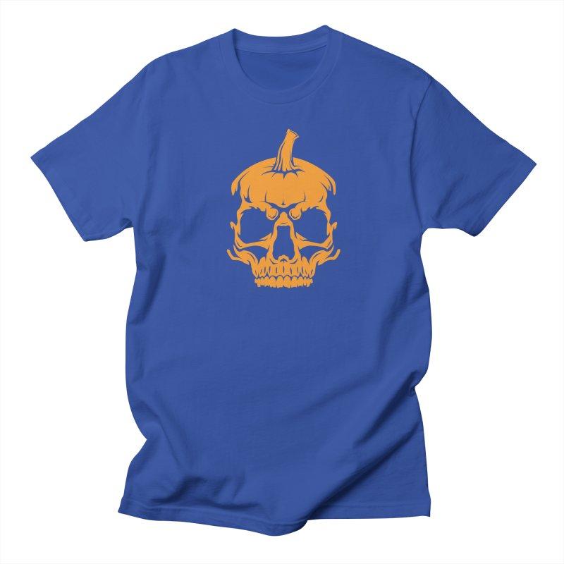 Classic Orange MPC Pumpkin Skull Logo Men's T-Shirt by Maniac Pumpkin Carvers Merch Shop