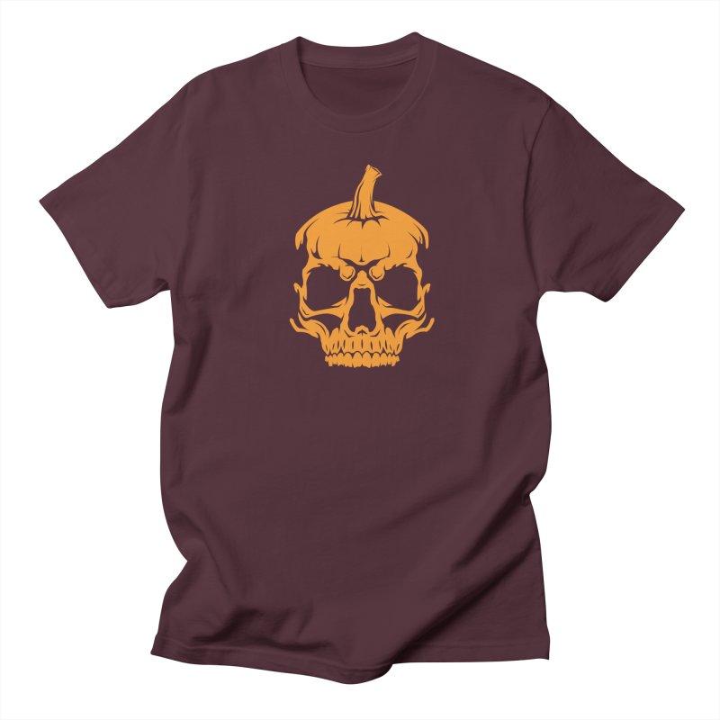 Classic Orange MPC Pumpkin Skull Logo Men's Regular T-Shirt by Maniac Pumpkin Carvers Merch Shop