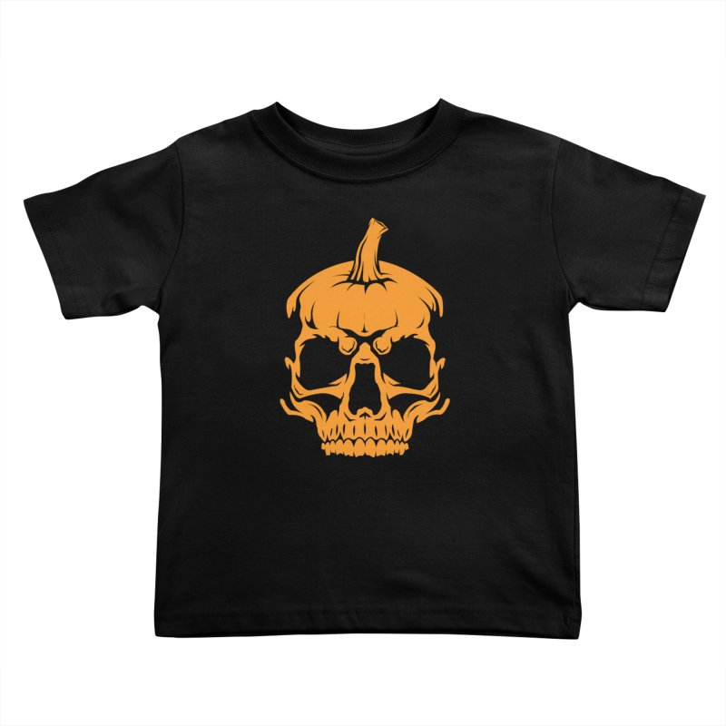 Classic Orange MPC Pumpkin Skull Logo Kids Toddler T-Shirt by Maniac Pumpkin Carvers Merch Shop