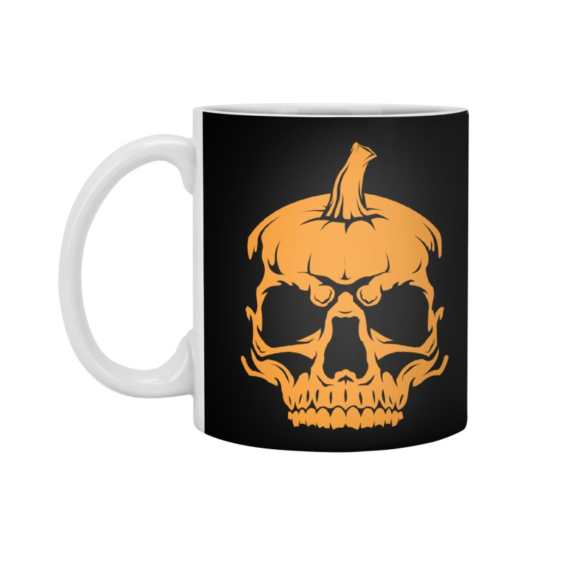 Classic Orange MPC Pumpkin Skull Logo Accessories Mug by Maniac Pumpkin Carvers Merch Shop