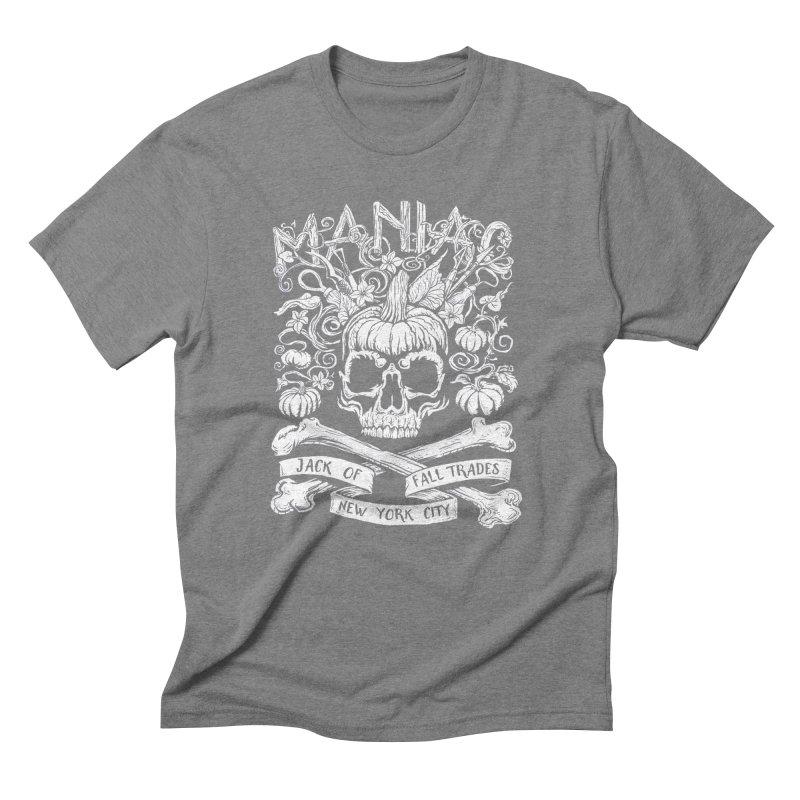 Maniac: Jack of Fall Trades Men's Triblend T-Shirt by Maniac Pumpkin Carvers Merch Shop