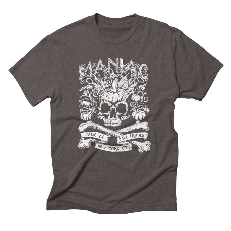 Maniac: Jack of Fall Trades Men's Triblend T-Shirt by Maniac Pumpkin Carvers Merch Shop