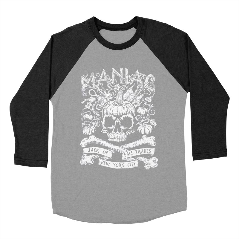 Maniac: Jack of Fall Trades Men's Baseball Triblend Longsleeve T-Shirt by Maniac Pumpkin Carvers Merch Shop