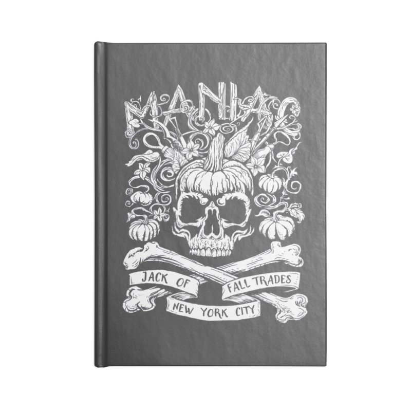 Maniac: Jack of Fall Trades Accessories Blank Journal Notebook by Maniac Pumpkin Carvers Merch Shop