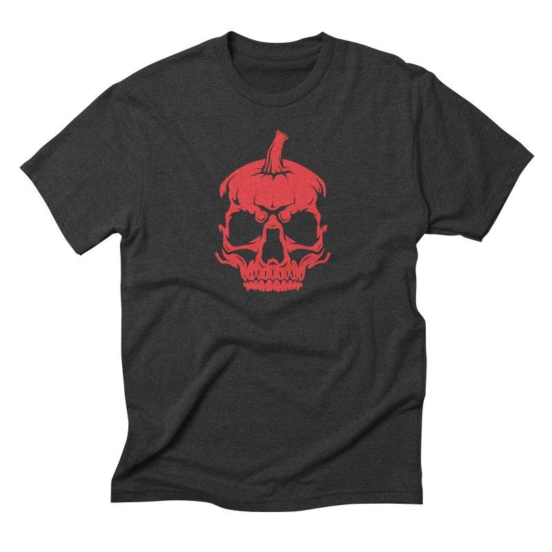 Red MPC Pumpkin Skull Men's T-Shirt by Maniac Pumpkin Carvers Merch Shop