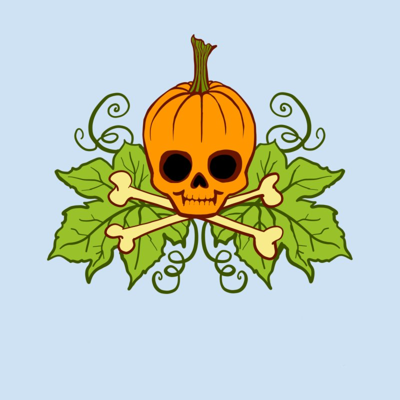 Lil' Maniac Pumpkin Skull Kids Toddler T-Shirt by Maniac Pumpkin Carvers Merch Shop