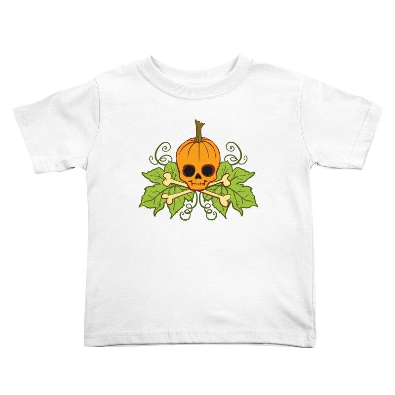 Lil' Maniac Pumpkin Skull Kids Toddler T-Shirt by Maniac Pumpkin Carvers Merch Shop