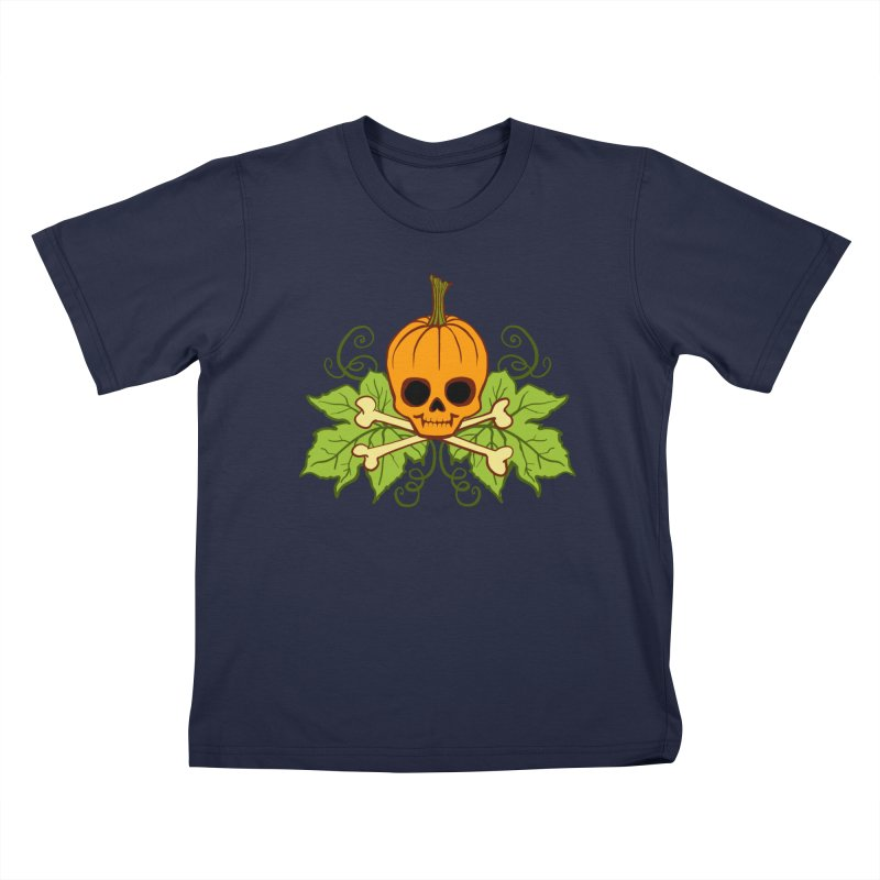 Lil' Maniac Pumpkin Skull Kids T-Shirt by Maniac Pumpkin Carvers Merch Shop