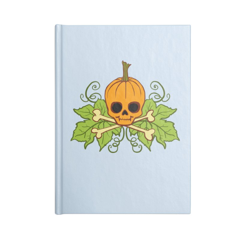 Lil' Maniac Pumpkin Skull Accessories Blank Journal Notebook by Maniac Pumpkin Carvers Merch Shop